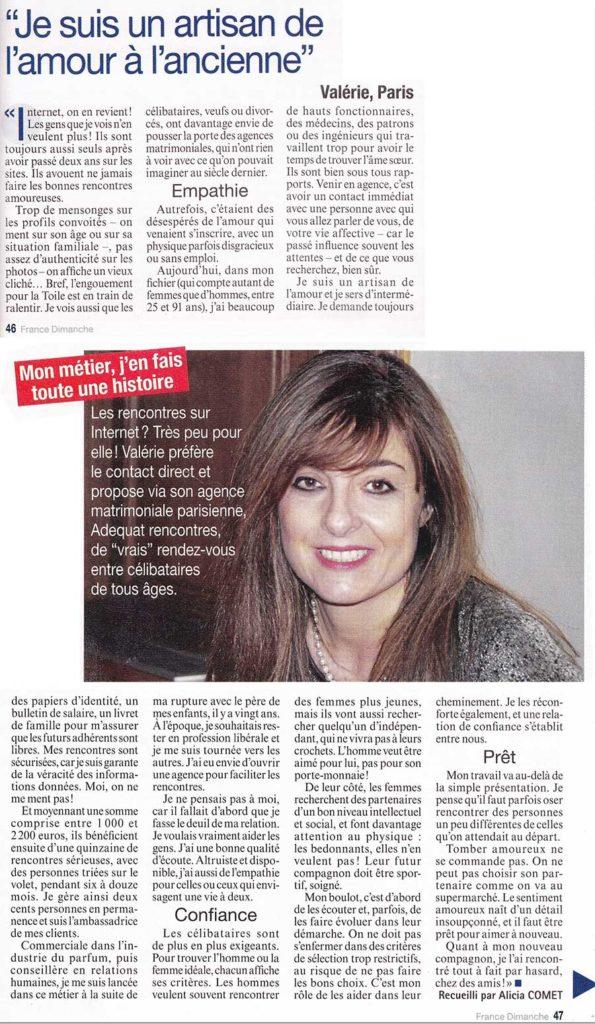 Agence de rencontres Article France Dimanche